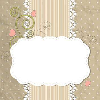 vector floral frame background - vector #132823 gratis