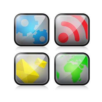 web site vector icons set - vector gratuit #132893