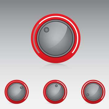 volume treble bass knobs - Free vector #132913