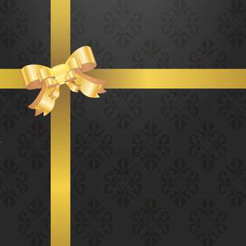 retro gift background with bow - vector gratuit #132983