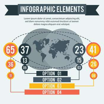 business infographic elements set - Free vector #133013