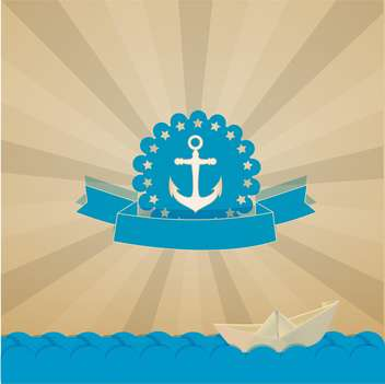 vintage nautical card with anchor - Free vector #133023