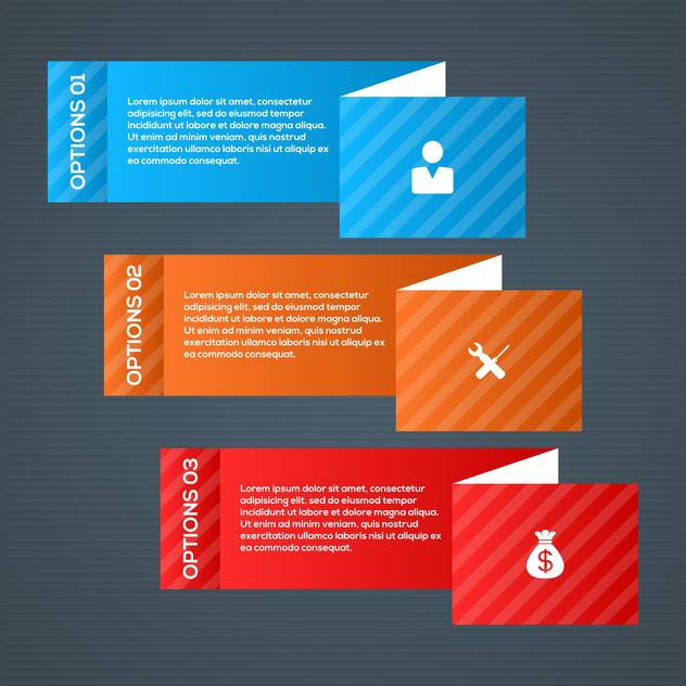 modern business step options - Free vector #133053
