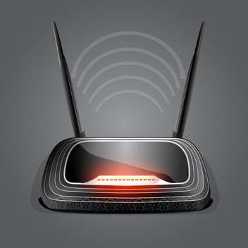 web waves wireless wi-fi router modem - vector gratuit #133073