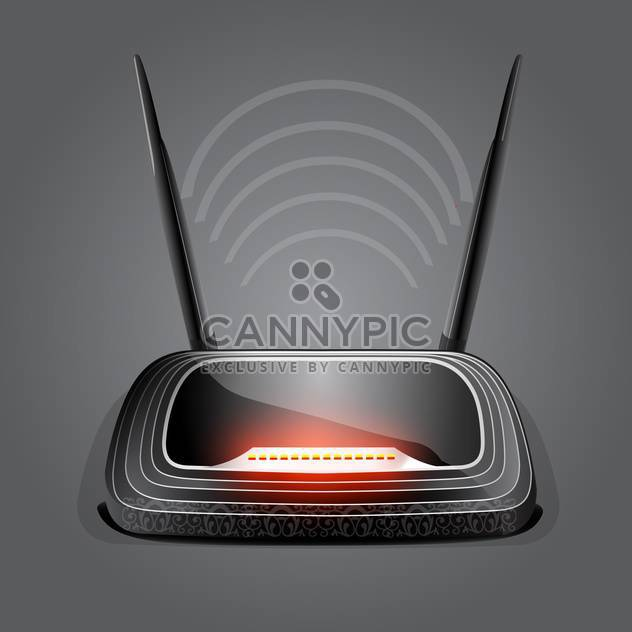 web waves wireless wi-fi router modem - Free vector #133073