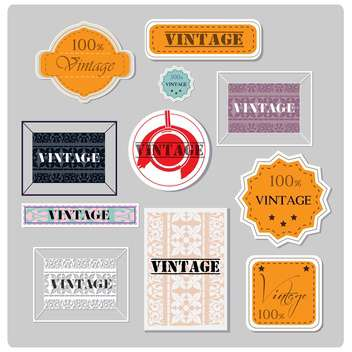 set of vector vintage labels - vector gratuit #133103