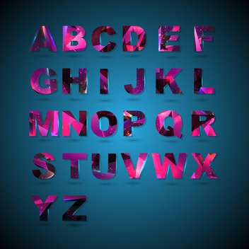 abstract alphabet letters set - vector gratuit #133143
