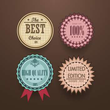 collection of vintage high quality labels - vector #133153 gratis