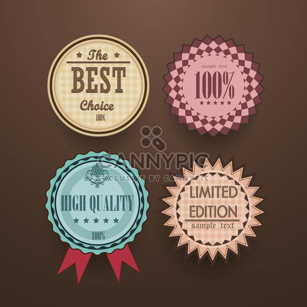 collection of vintage high quality labels - Free vector #133153