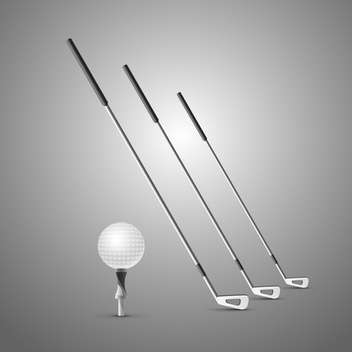 golf clubs and ball illustration - бесплатный vector #133203
