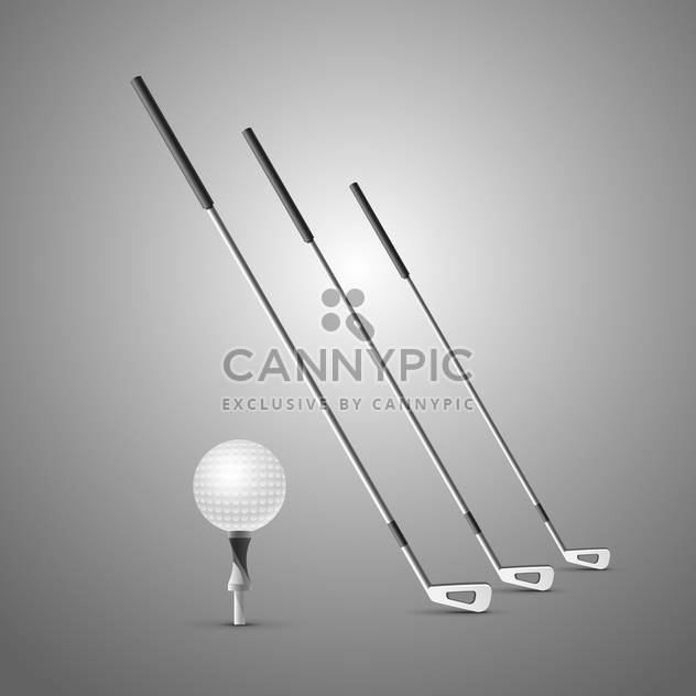 golf clubs and ball illustration - Free vector #133203