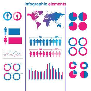 business infographic elements vector set - vector #133253 gratis