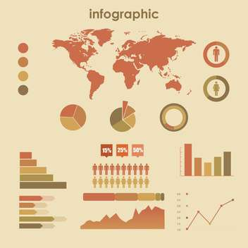 business infographic elements vector set - Free vector #133263