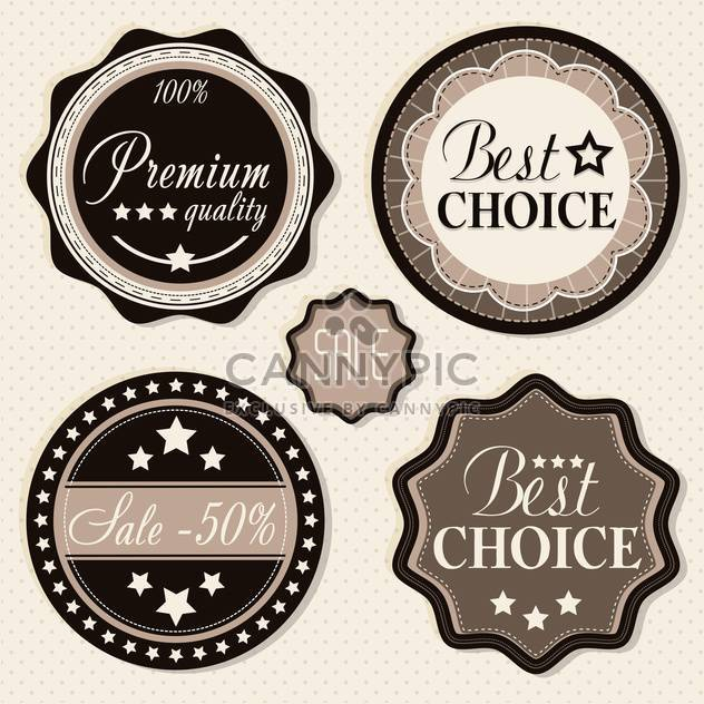 retro vintage badges and labels. - Free vector #133303
