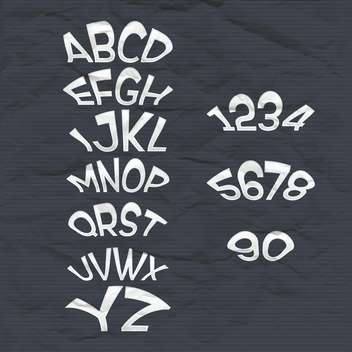 education alphabet letters and numbers - Free vector #133343