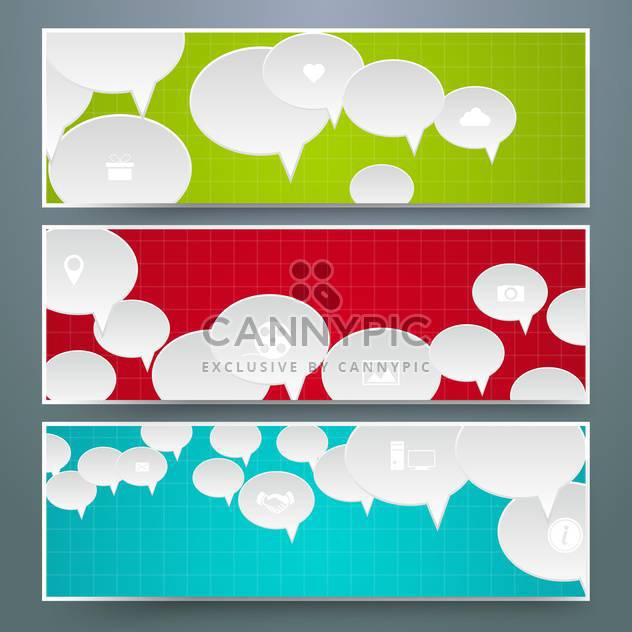 speech bubbles design cards set - Kostenloses vector #133363