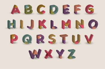 cartoon colorful alphabet letters - vector gratuit #133403