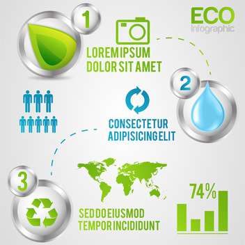 ecology infographics with elements and icons - vector #133413 gratis