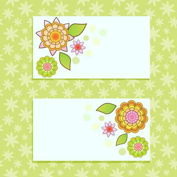 vector floral cards background - vector #133433 gratis