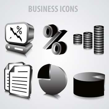 vector set of business icons - vector #133483 gratis