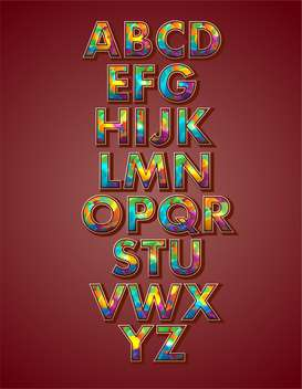 vector alphabet letters set background - vector #133503 gratis