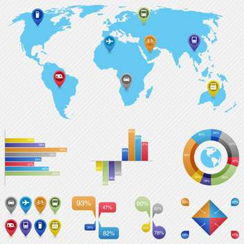 vector elements of business infographics - vector gratuit #133513