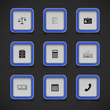 set of vector web icons background - vector gratuit #133573