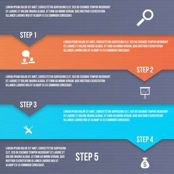 business process vector steps set - vector gratuit #133583