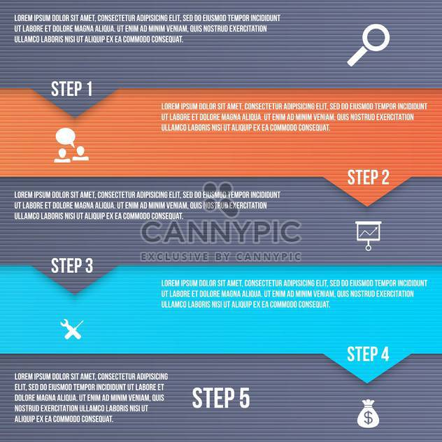 business process vector steps set - Free vector #133583