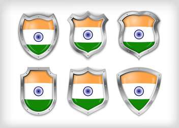vector india shield set background - vector gratuit #133593