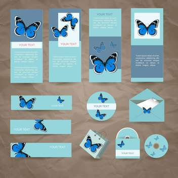 vector stationery design set - vector gratuit #133613