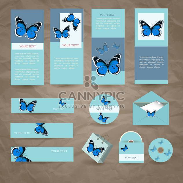 Vector Briefpapier Design-Set - Kostenloses vector #133613