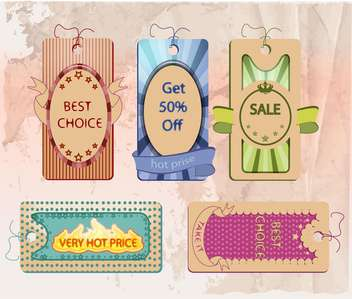 vector set of labels for shopping sale - vector gratuit #133683