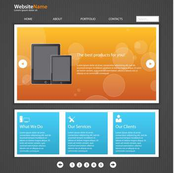 vector template of abstract website design - vector #133693 gratis