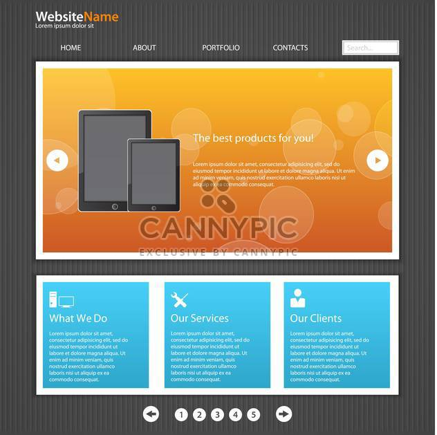 vector template of abstract website design - Free vector #133693