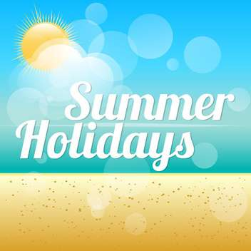 summer holidays vector background - vector #133713 gratis