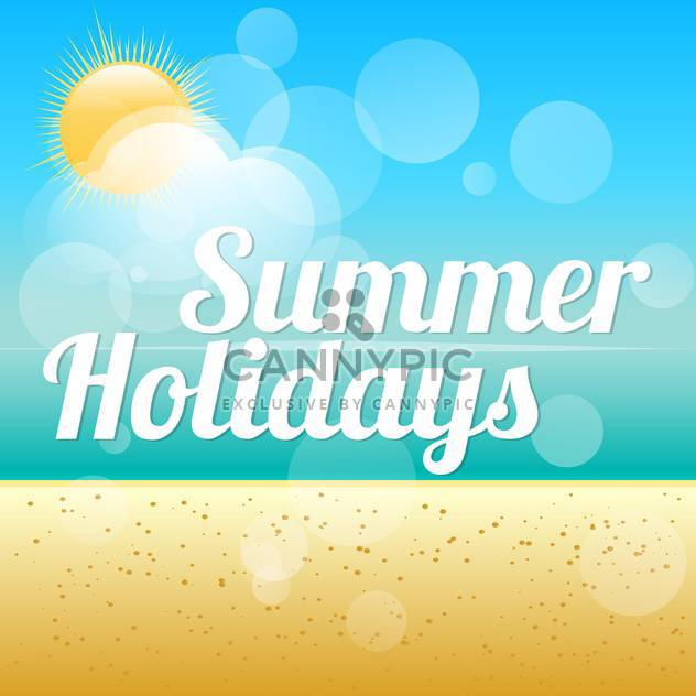 summer holidays vector background - Free vector #133713