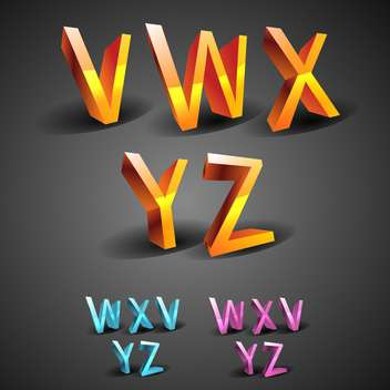 education alphabet glowing font - vector #133743 gratis