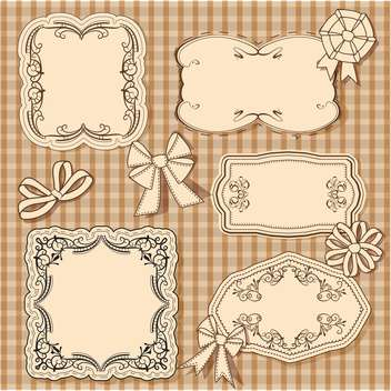 vector set of vintage frames - vector gratuit #133753