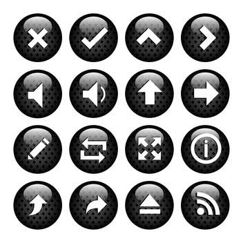 computer media icons set - vector #133813 gratis
