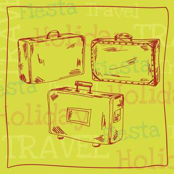 vintage travel suitcases background - vector gratuit #133873