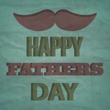 happy father's day vintage card - vector #133893 gratis
