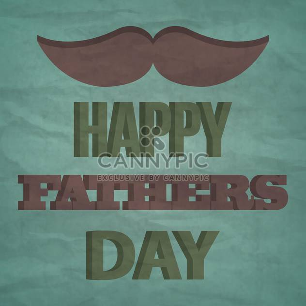 happy father's day vintage card - Free vector #133893