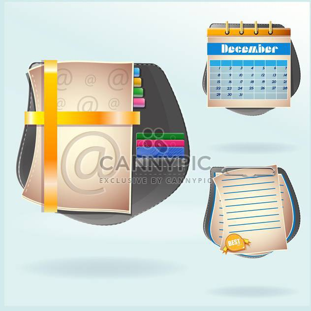 set of diary book background - бесплатный vector #133903