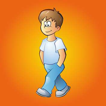 vector illustration of cartoon boy - vector gratuit #133963