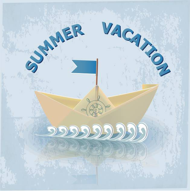 summer vacation travel illustration - Free vector #134083