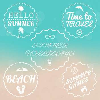 summer sale design emblems set - vector gratuit #134123