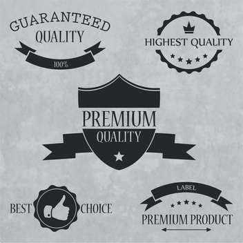 quality and guaranteed signs, emblems and labels - vector #134133 gratis
