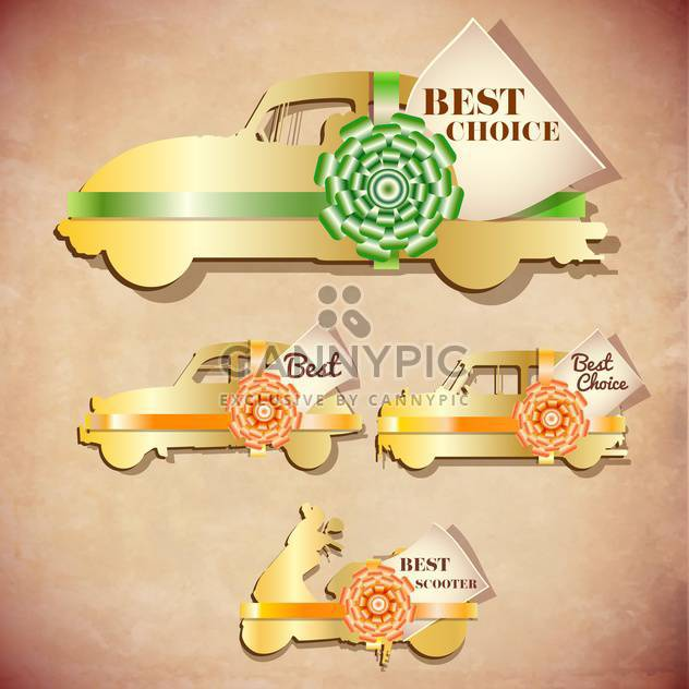 vintage design emblems set - Free vector #134153