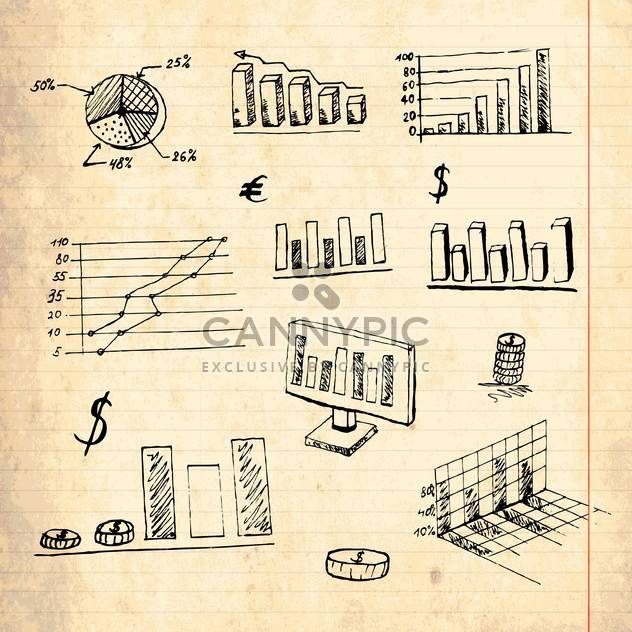 vintage design elements set - Free vector #134213